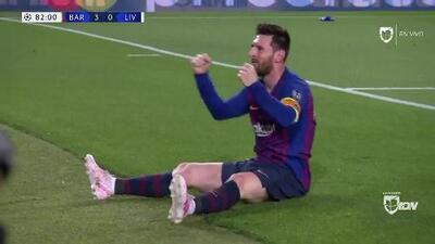 ¡GOOOL! Lionel Messi anota para Barcelona