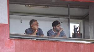 'Tata' Martino y Gabriel Heinze estuvieron en el estadio de Newell's