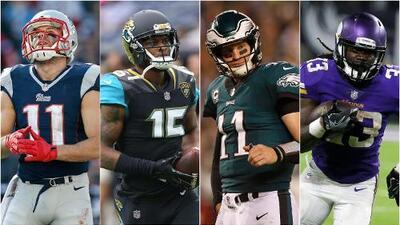 Patriots, Jaguars, Eagles y Vikings llegaron lejos superando lesiones de jugadores clave