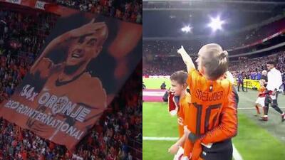 Emotivo homenaje a Wesley Sneijder en su despedida del fútbol internacional