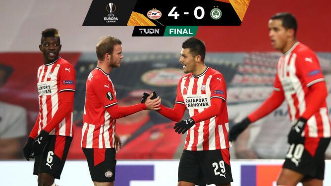 PSV Eindhoven asegura el liderato tras golear 4-0 al Omonia de Nicosia