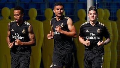 James Rodríguez entrena de nuevo con el Real Madrid