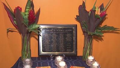 Rinden homenaje a trabajadores del restaurante Windows on the World que murieron en los ataques del 9/11