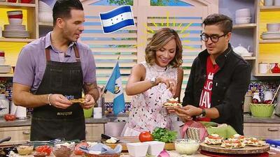 Satcha Pretto nos cocinó un platillo típico de su tierra: enchiladas estilo hondureño