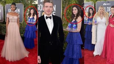 Se robó el show en los Globos de Oro: la chica del agua que se coló en las fotos de famosos