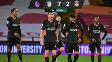 ¡Tremenda goliza al campeón! Aston Villa sin piedad ante Liverpool