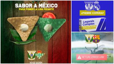Pepino con sal y limón y chile: picardía 'mexicana' en los posts del Leganés