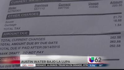 Residentes de Austin denuncian alza en facturas de agua