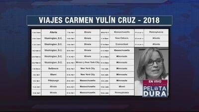 Los viajes de la alcaldesa de San Juan, Carmen Yulín
