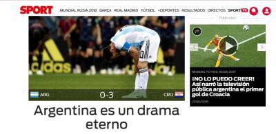 """Fracaso, Masacre, Humillante"" así tituló la prensa internacional la derrota de Argentina"
