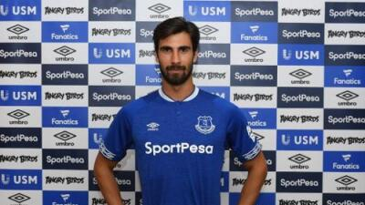 Yerry Mina y André Gomes debutarán con el Everton en septiembre