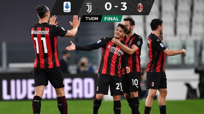 Milan golea a la Juventus y pone a Cristiano fuera de Champions