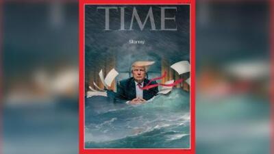 'Stormy', la nueva portada de Time en donde muestra a Trump en medio de una tormenta