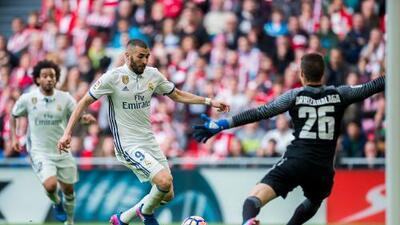 Real Madrid acaba con el invicto de 19 juegos como local del Bilbao