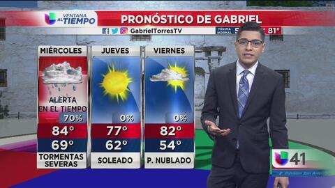 Se avecinan tormentas y la posibilidad de granizo en San Antonio