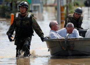 En fotos: Más de un centenar de muertos dejan inundaciones en Japón