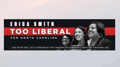 """""""Demasiado liberal para Carolina del Norte"""" acusa nueva valla publicitaria a candidata al senado"""