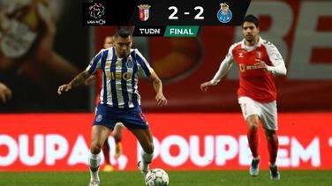 ¡De terror! Tecatito expulsado y Porto se deja empatar al 94'