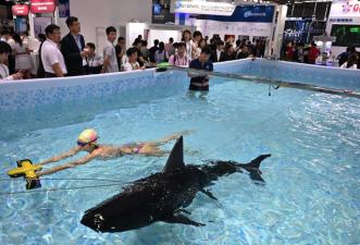 Tiburones que son drones y coches totalmente digitales: las novedades de la feria tecnológica CES Asia (fotos)