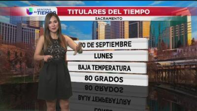 Sacramento arranca la semana con un descenso en las temperaturas