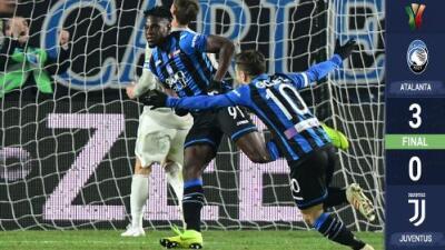 Duván Zapata y el Atalanta eliminan a la Juventus de la Copa Italia con Cristiano en cancha