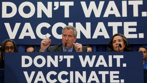 Anuncian demanda contra la orden del alcalde de Nueva York sobre la vacunación obligatoria contra el sarampión