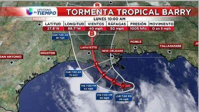 Se forma la tormenta tropical Barry en el Golfo de México