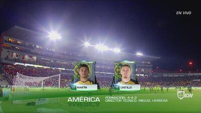 Alineaciones confirmadas de Morelia y América para el duelo de la Jornada 9