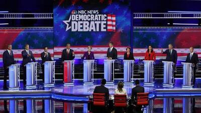 Estos fueron los candidatos que se destacaron durante el primer debate demócrata