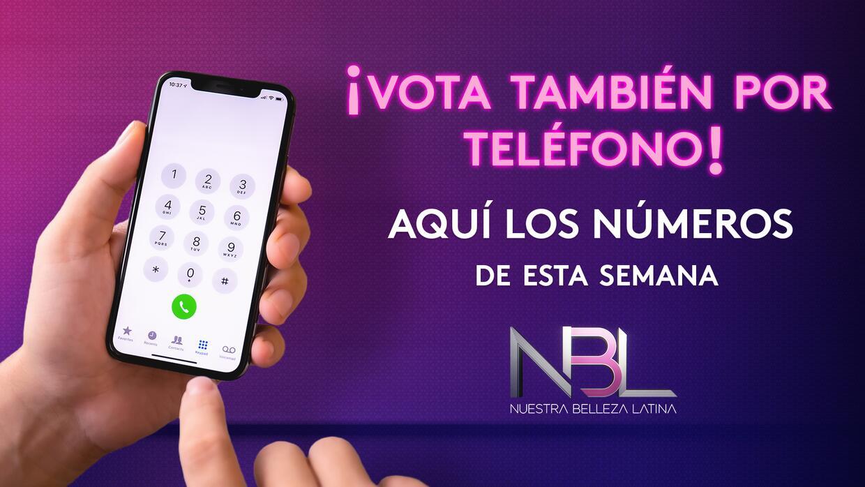 Números de teléfono para votar por tu belleza latina favorita