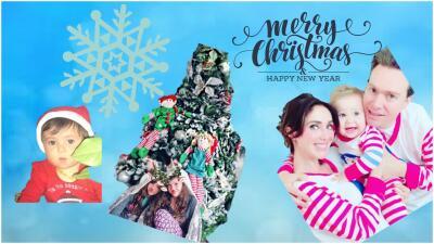 Las postales navideñas con las que famosos (como los Santamarina Villanueva) felicitaron a sus seguidores