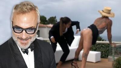 En falda, tacones y el trasero al aire, el millonario Gianluca Vacchi demuestra que hace lo quiere