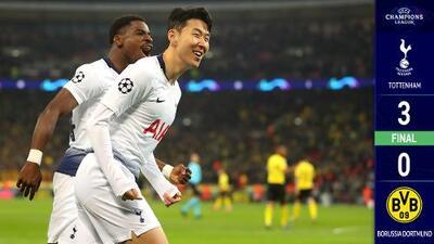 'Son' equipo de cuartos: el Tottenham del surcoreano goleó al Borussia Dortmund