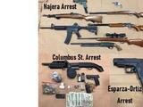 Policía de Bakersfield arrestó cuatro personas por tenencia ilegal de armas de fuego