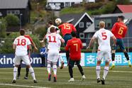 Soccer Football - Euro 2020 Qualifier - Group F - Faroe Islands v Spain - Torsvollur, Torshavn, Faroe Islands - June 7, 2019 Spain's Sergio Ramos scores their first goal REUTERS/Sergio Perez