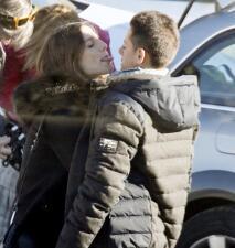 Con tantos besos, 'Chicharito' Hernández y su novia no pasan frío