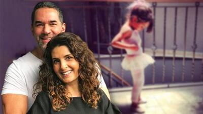 La hija menor de Mayrín Villanueva y Eduardo Santamarina ya cumplió 10 años y cada vez se parece más a su padre