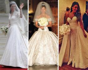 Los más bonitos vestidos de novia de las famosas