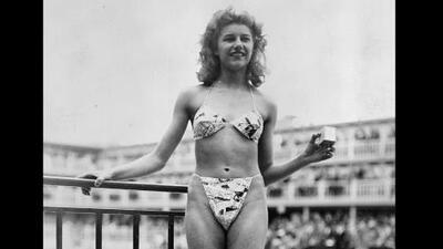 Esta es la primera foto de una mujer en bikini tomada hace 73 años