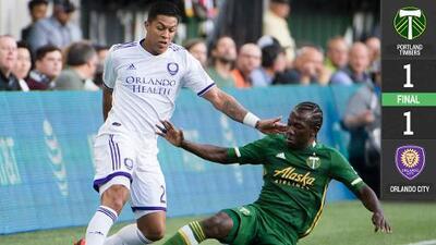 Colombiano Santiago Patiño asusta a Portland Timbers en empate de Orlando City