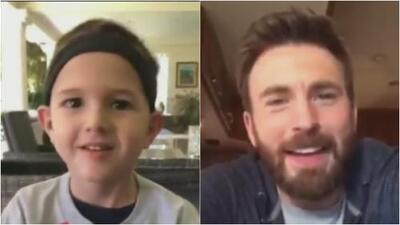 Un niño salvadoreño con un tumor cerebral recibe un mensaje de su ídolo, 'El Capitán América'