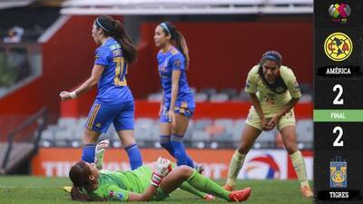 América es víctima de sus errores ante Tigres y pierde ventaja en la Final femenil