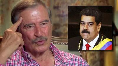 """Vicente Fox asegura que ya hubiera """"echado a patadas"""" a Nicolás Maduro ante la crisis de Venezuela"""