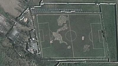 """Gracias a Google Earth descubren cancha de fútbol """"torcida"""" en Argentina"""