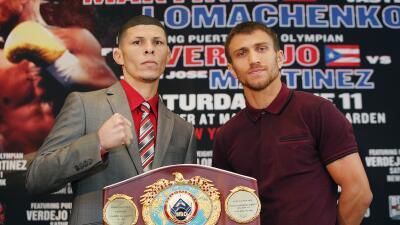 Román 'Rocky' Martínez y Vasyl Lomachenko frente a frente
