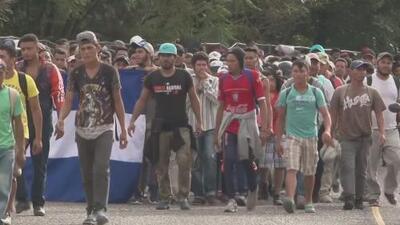 La caravana de migrantes hondureños sigue avanzando pese amenazas del presidente Trump