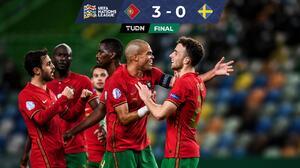 Sin extrañar a Cristiano Ronaldo, Portugal golea a Suecia