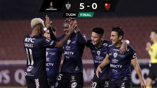 Goleada histórica del Independiente del Valle al Flamengo en Libertadores