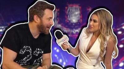 A lo Myrka Dellanos: Alexa Dellanos debuta como reportera entrevistando a David Guetta