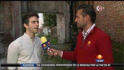 Osvaldo Benavides se burla de los reporteros